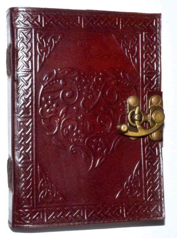 Journals Celtic Heart Leather Journal with Latch