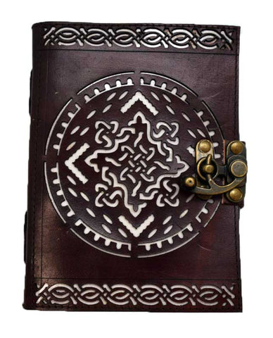 Celtic Knot Leather Journal with Latch