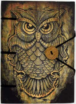 Owl Journal with Handmade Parchment