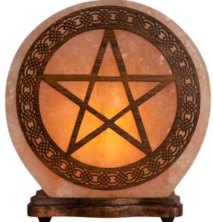Lamps Pentacle - Large Electric Himalayan Salt Lamp w/ Multiple Designs!  Small and Large Sizes