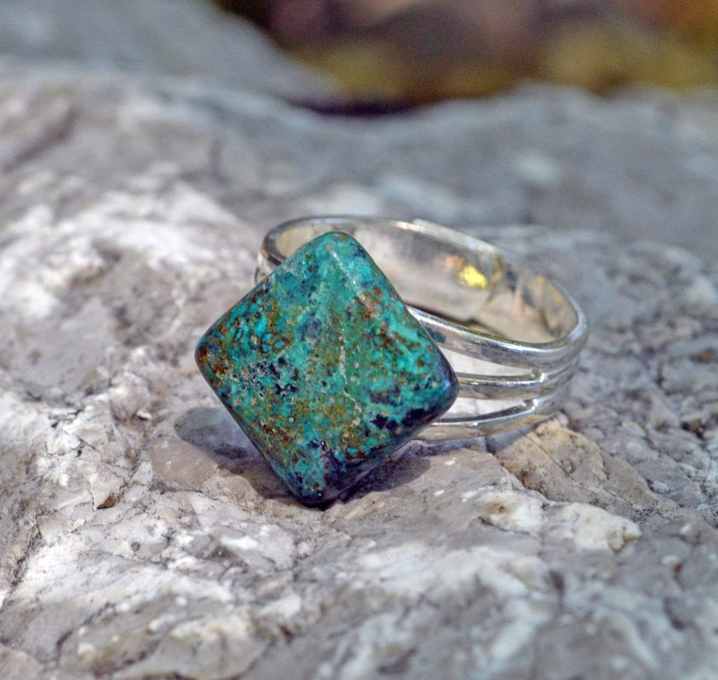 Rings Manifestation Ring - Forgiveness - Chrysoprase
