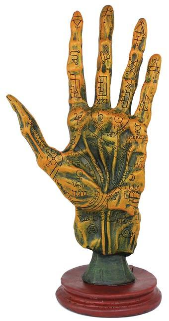 Statues Alchemy Palmistry Hand Statue