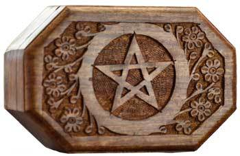 Tarot Accessories Octagonal Pentagram box
