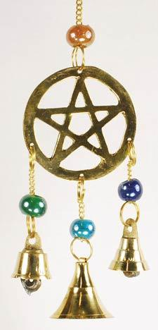 Wind Chimes Three Bell Pentagram wind chime