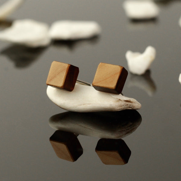 Gola - Handmade in Ireland - Small cube wooden studs