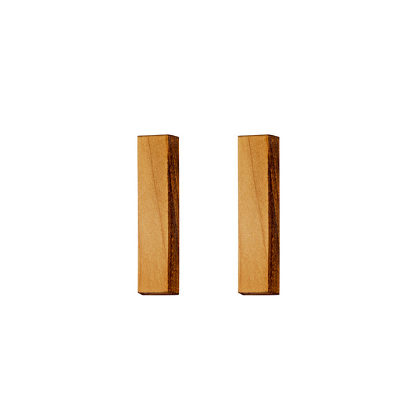 Rectangles - Long rectangular wooden studs - Handmade in Ireland by Irish Jewellery Designer Rowena Sheen