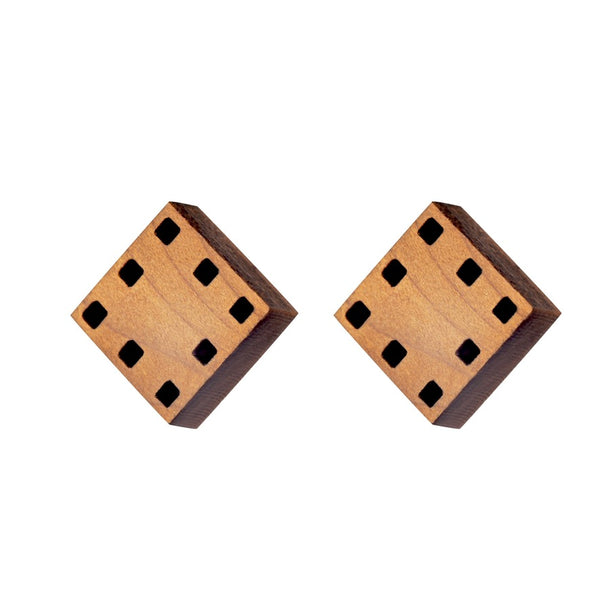 Squares - Geometric Stud Earrings - Irish made Jewellery by designer Rowena Sheen
