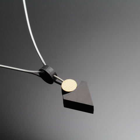 Klimt Pendant - Contemporary Handmade in Ireland Jewellery in wood and sterling silver