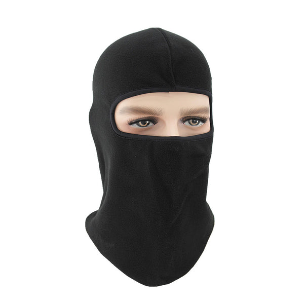 black cycleing face mask