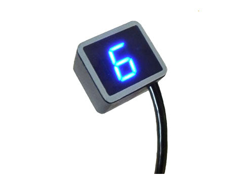 digital gear indicator in blue