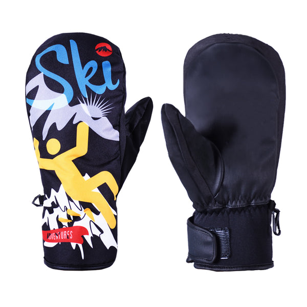 Mens Ski Gloves Winter Warmest Waterproof Snow Gloves Ski Snowboard