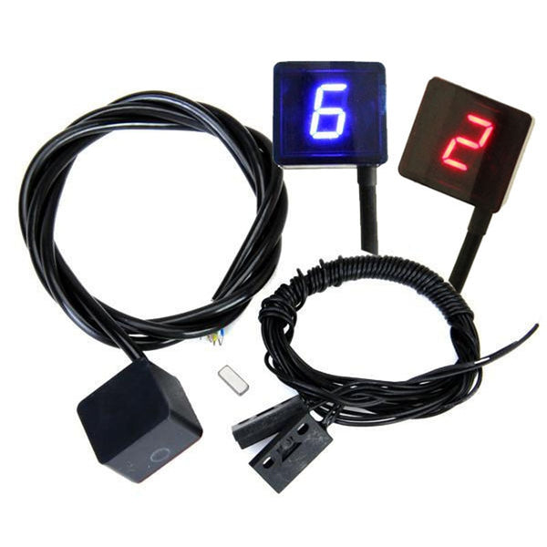 Universal Motorcycle Digital Gear Indicator Display Shift Lever Sensor 6 Gears