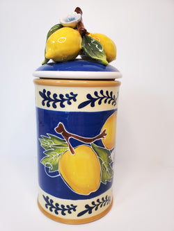 Lemon Kitchen Canister, Medium