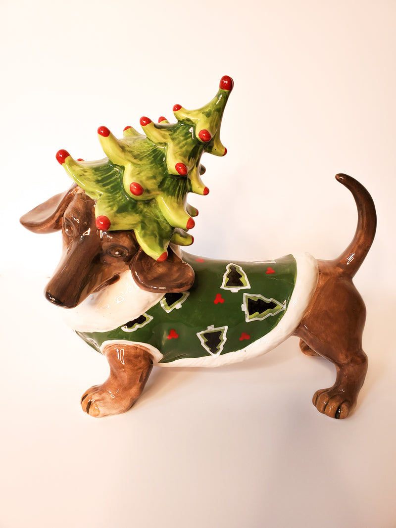 Holiday Dachshund Figurine