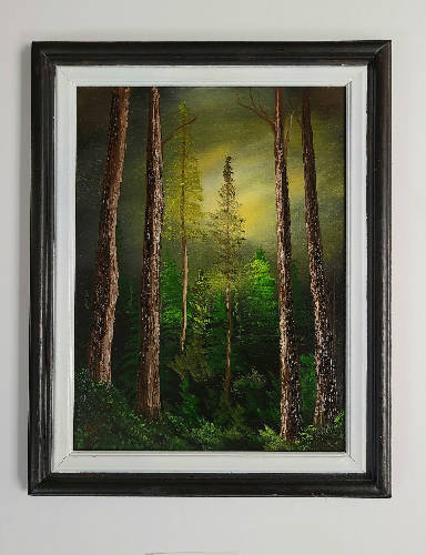 "Oil on Canvas ""Cathedral Grove"" by Bruce Stanton."