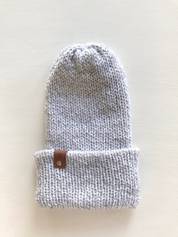 Knit Marble Grey Toque