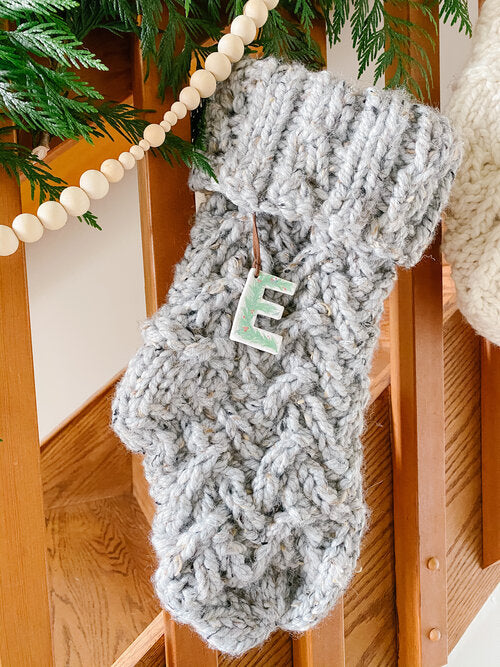 Cable-Knit Stocking
