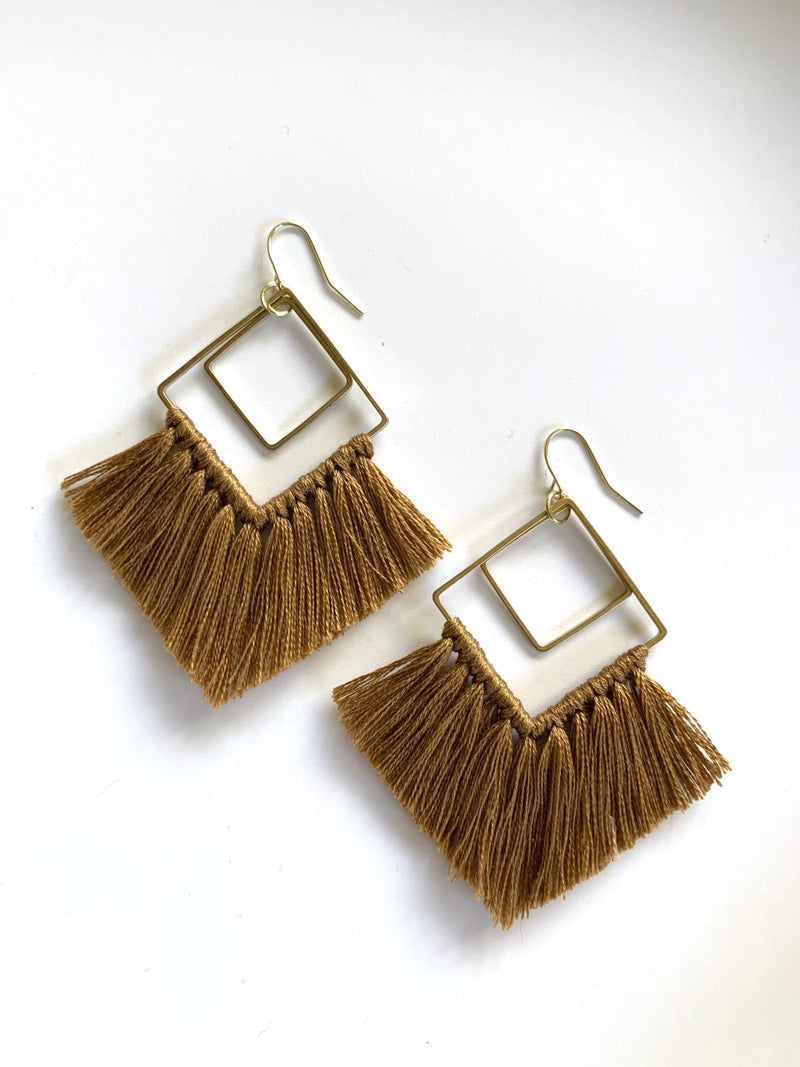 Double Diamond Fringe Earring