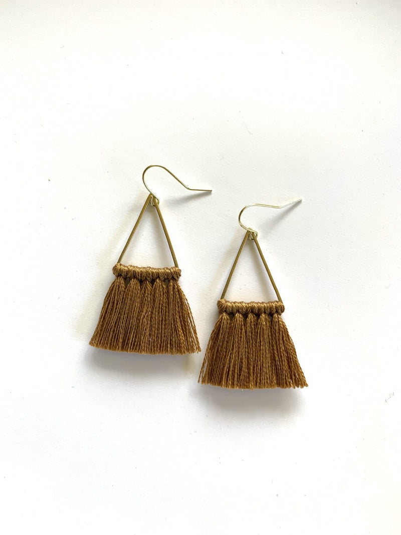 Triangle Fringe Earrings