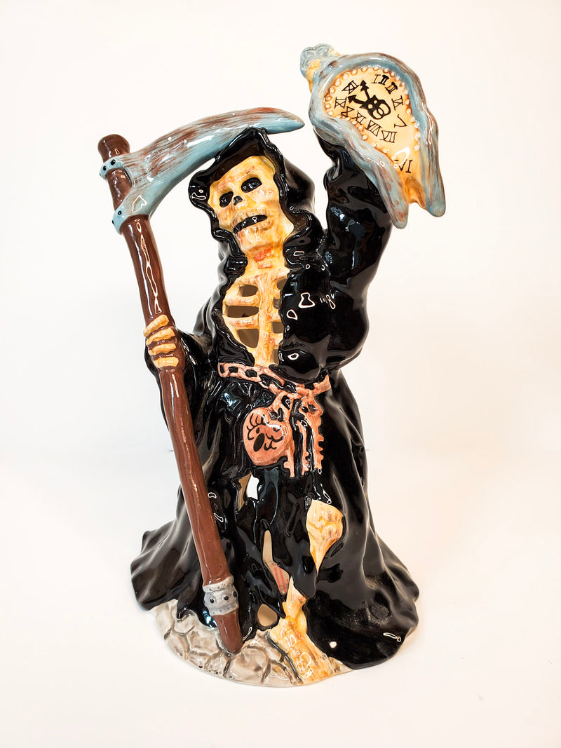 Grim Reaper Skeleton Tealight Holder
