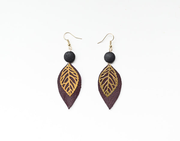Diffuser Leaf Earrings