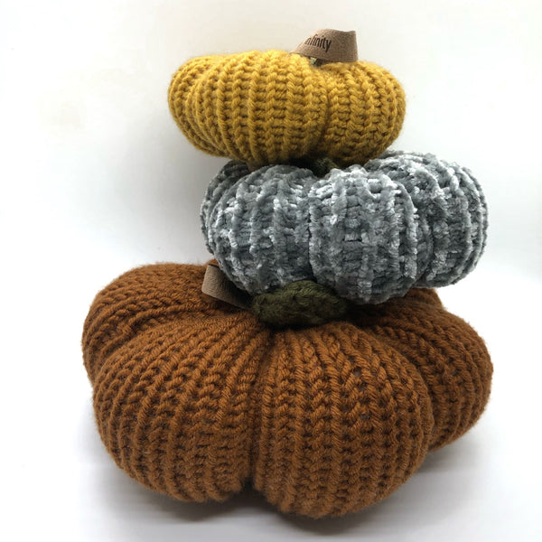 Knit Pumpkin Set
