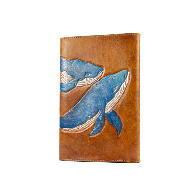Refillable Leather Whale Journal-Colour