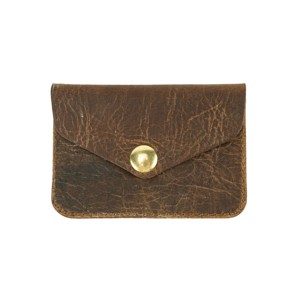 Leather Distressed Coin Pouch