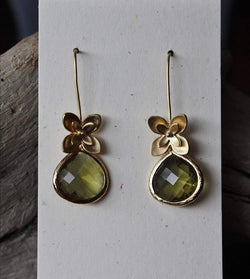Floral Olive Earrings