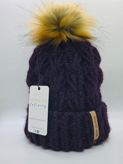 Knit Double-Brim Braided Toque