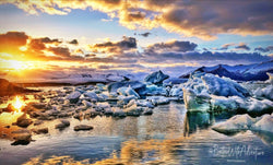 Icebergs of Iceland Photography Print
