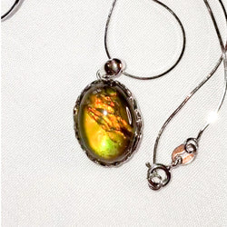 Oval Ammolite Necklace