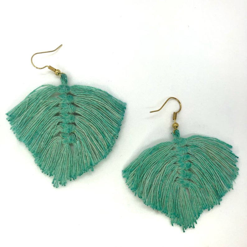 Bohemian Leafy Earrings