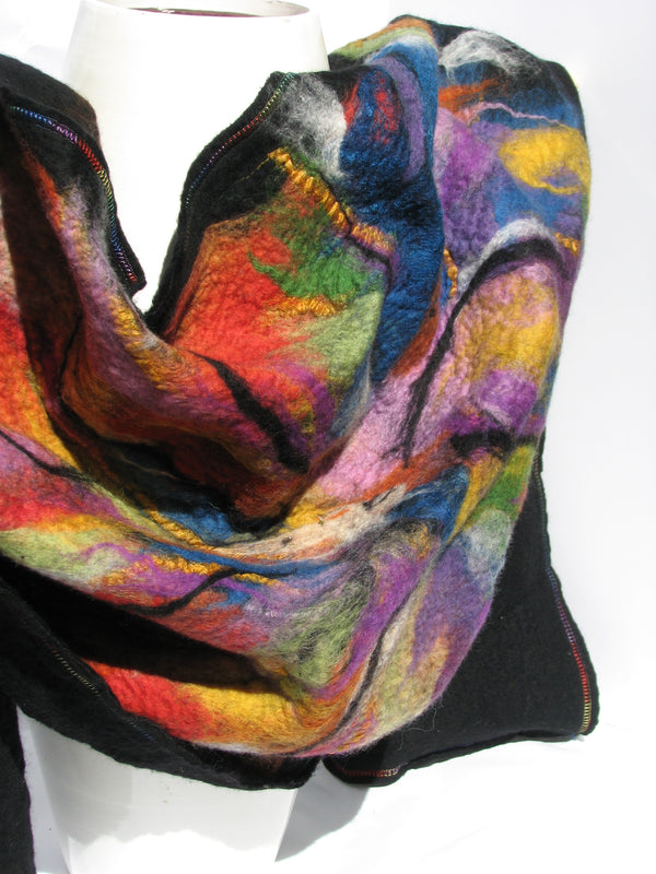 "Merino Wool Shawl, ""Light is Always With Us"""