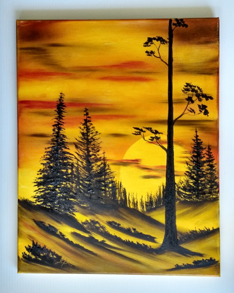 Painting 'As the Sun Sets'