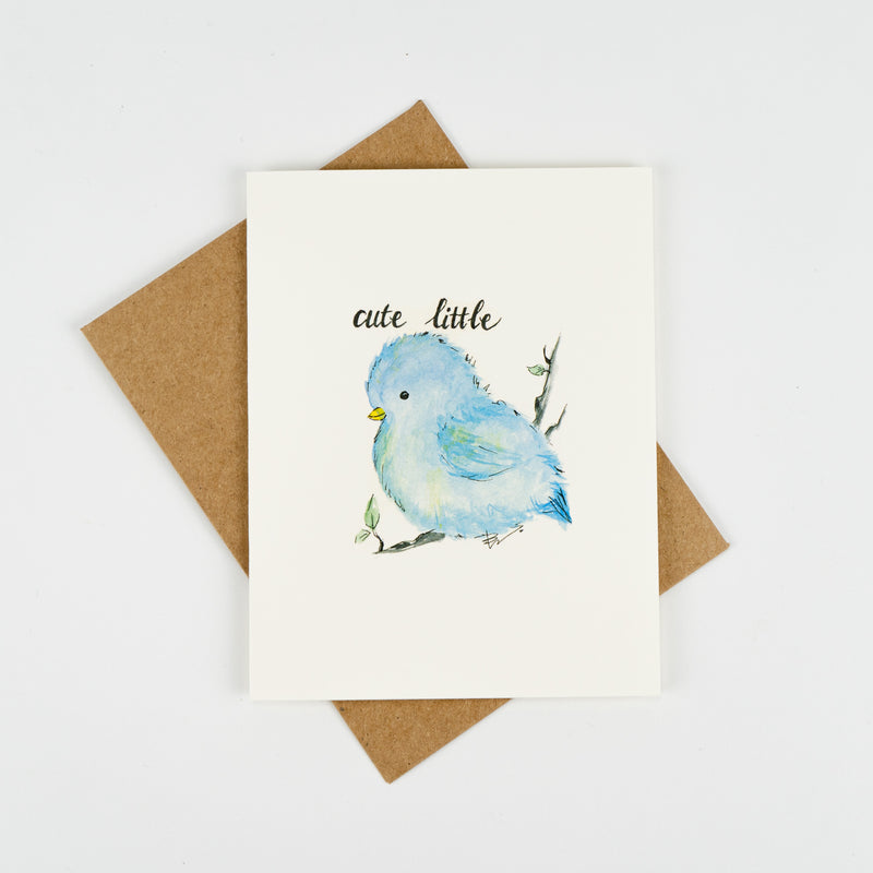 Cute Little Bird Greeting Card