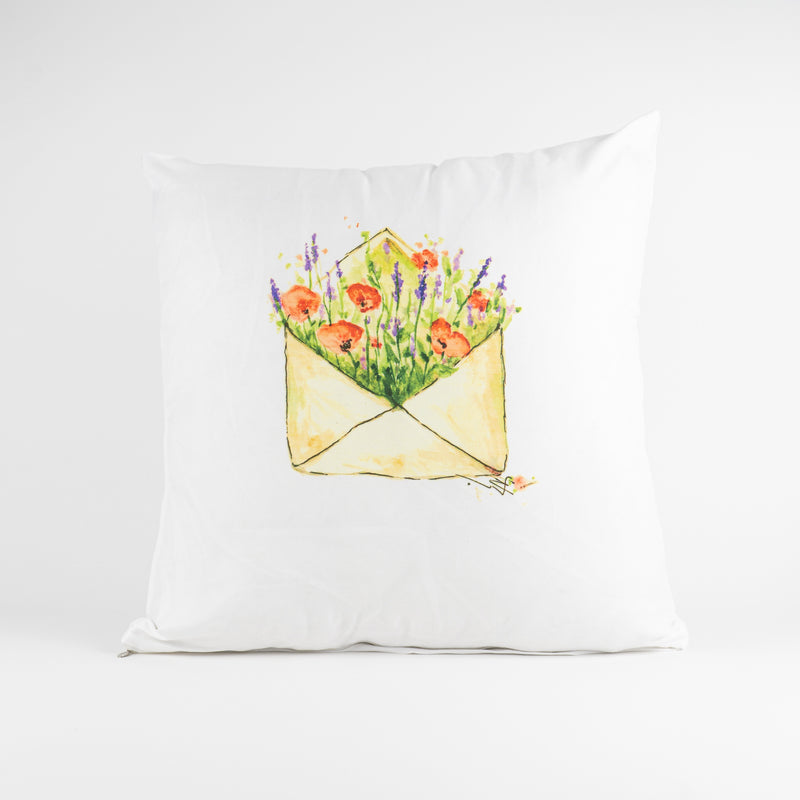 Poppy and Lavender Pillowcase