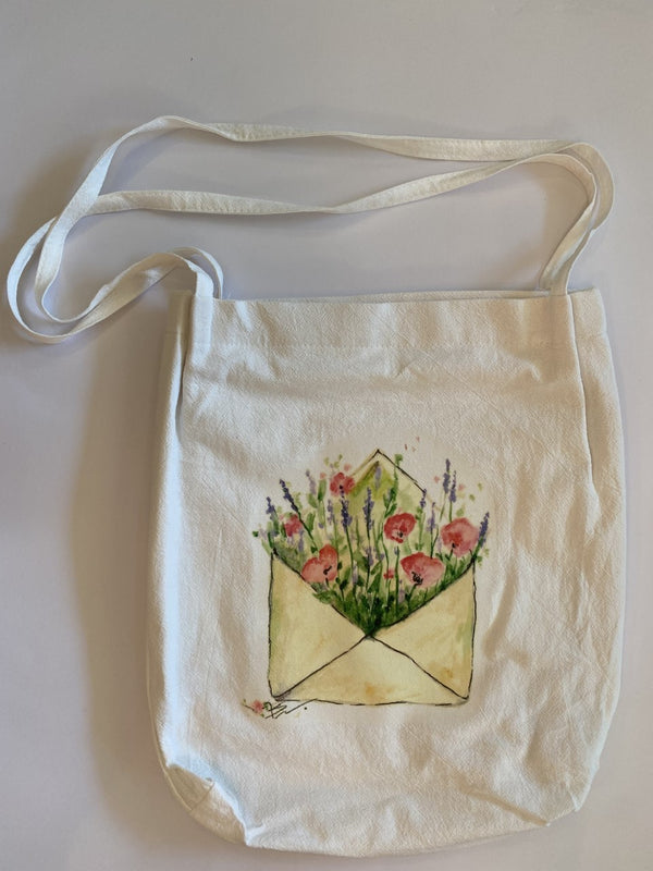 Lavender and Poppy Tote Bag