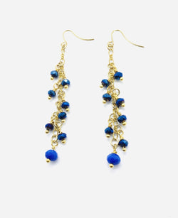 Electric Blue Raindrop Earrings