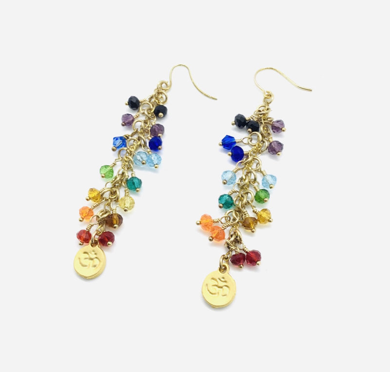 Swarovski Crystal Rainbow Raindrop Earrings