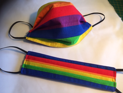 Reversible, Reusable Rainbow Face Mask