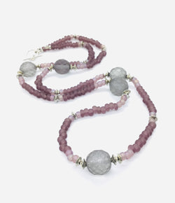 Plum and Grey Necklace