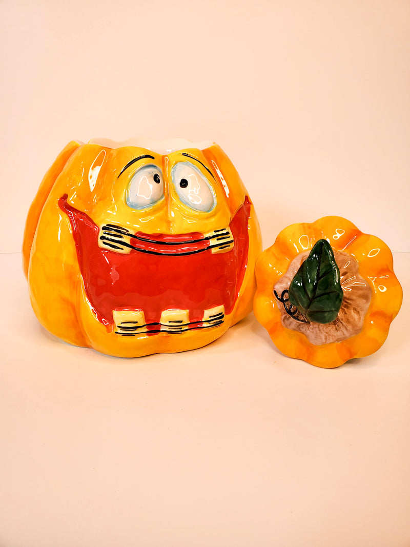 Smiling Pumpkin Cookie Jar