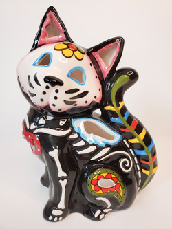 Day of the Dead Cat Tealight Holder