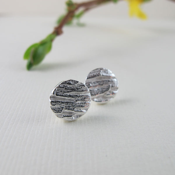 Arbutus Imprinted Stud Earrings