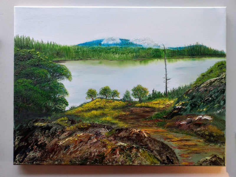 Westwood Lake View - Oil on Canvas