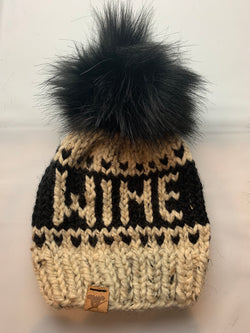 Hand-Knit Wine Toque