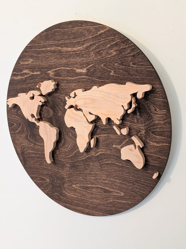 World Map Sign