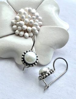 The Pearl - Handmade Sterling Silver Earrings with Freshwater Pearl