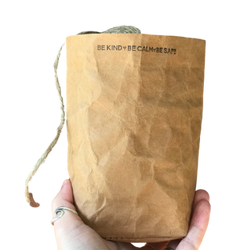 Hand-Stamped Washable Paper Bags